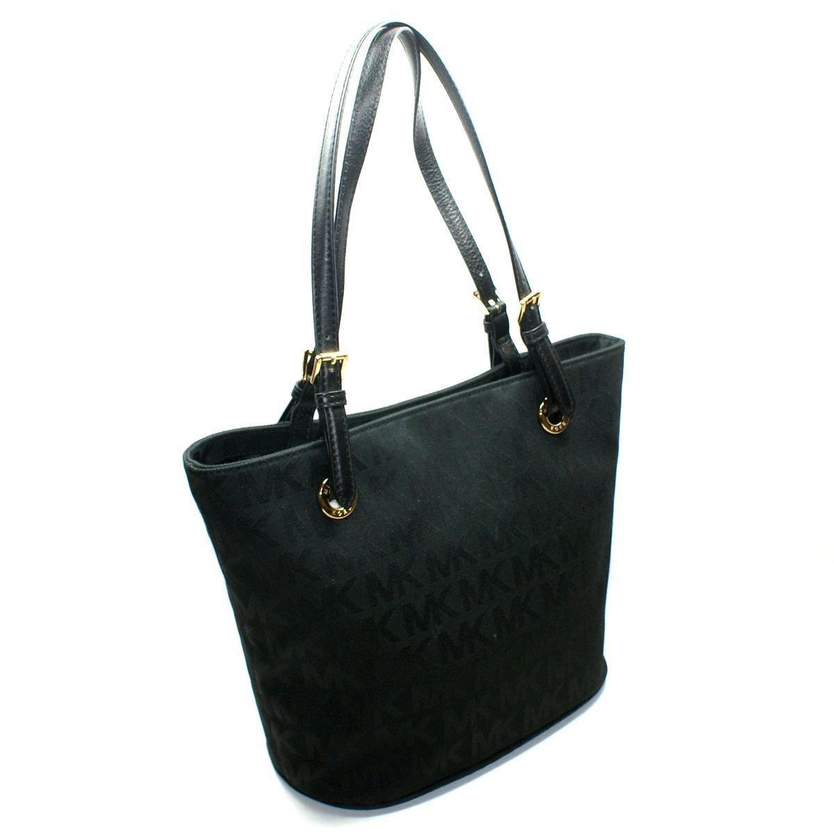 Michael Kors MK Signature Jacquard Medium Tote Bag Black #38T2XTTT2J ...