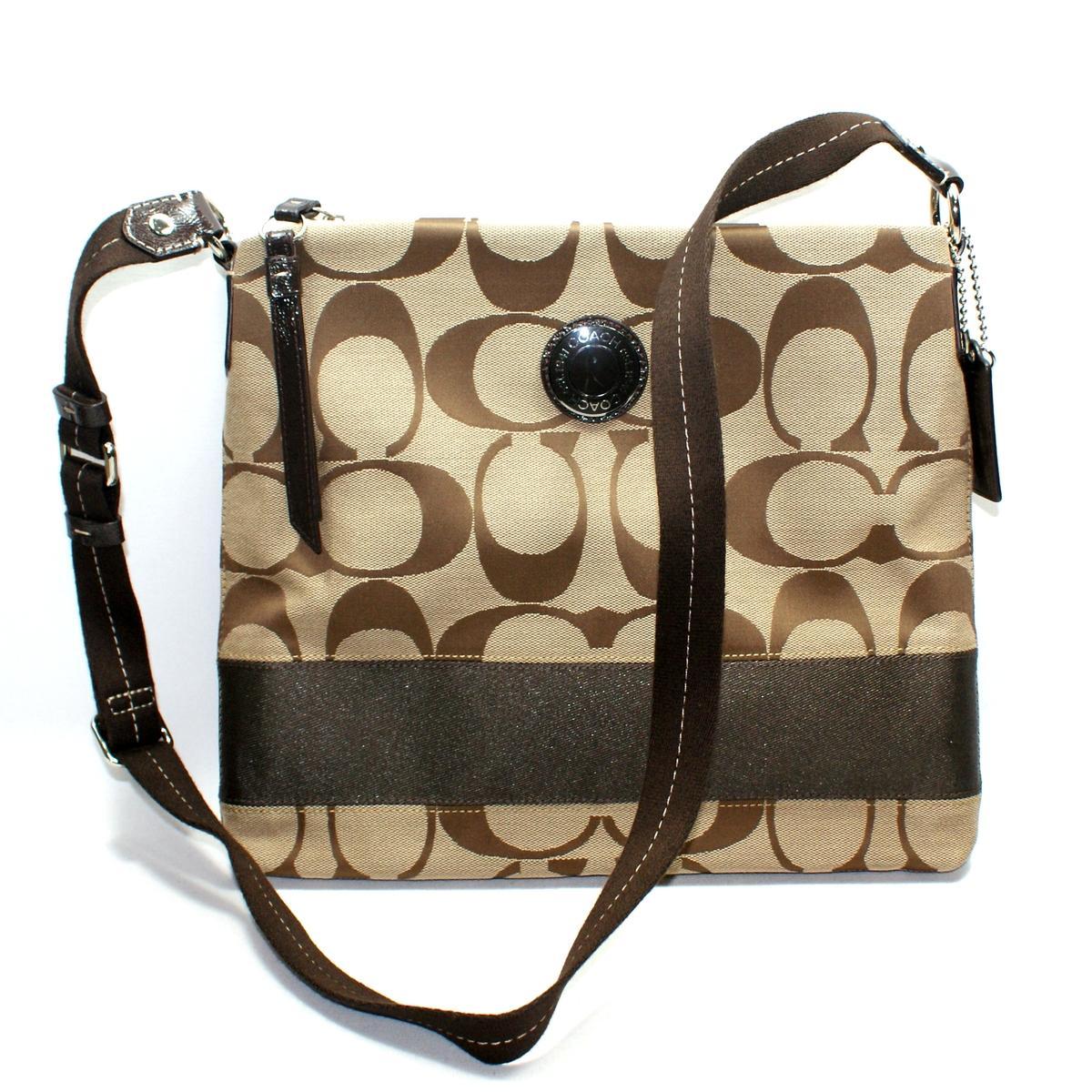 Coach Signature Stripe File Swingpack Crossbody Bag