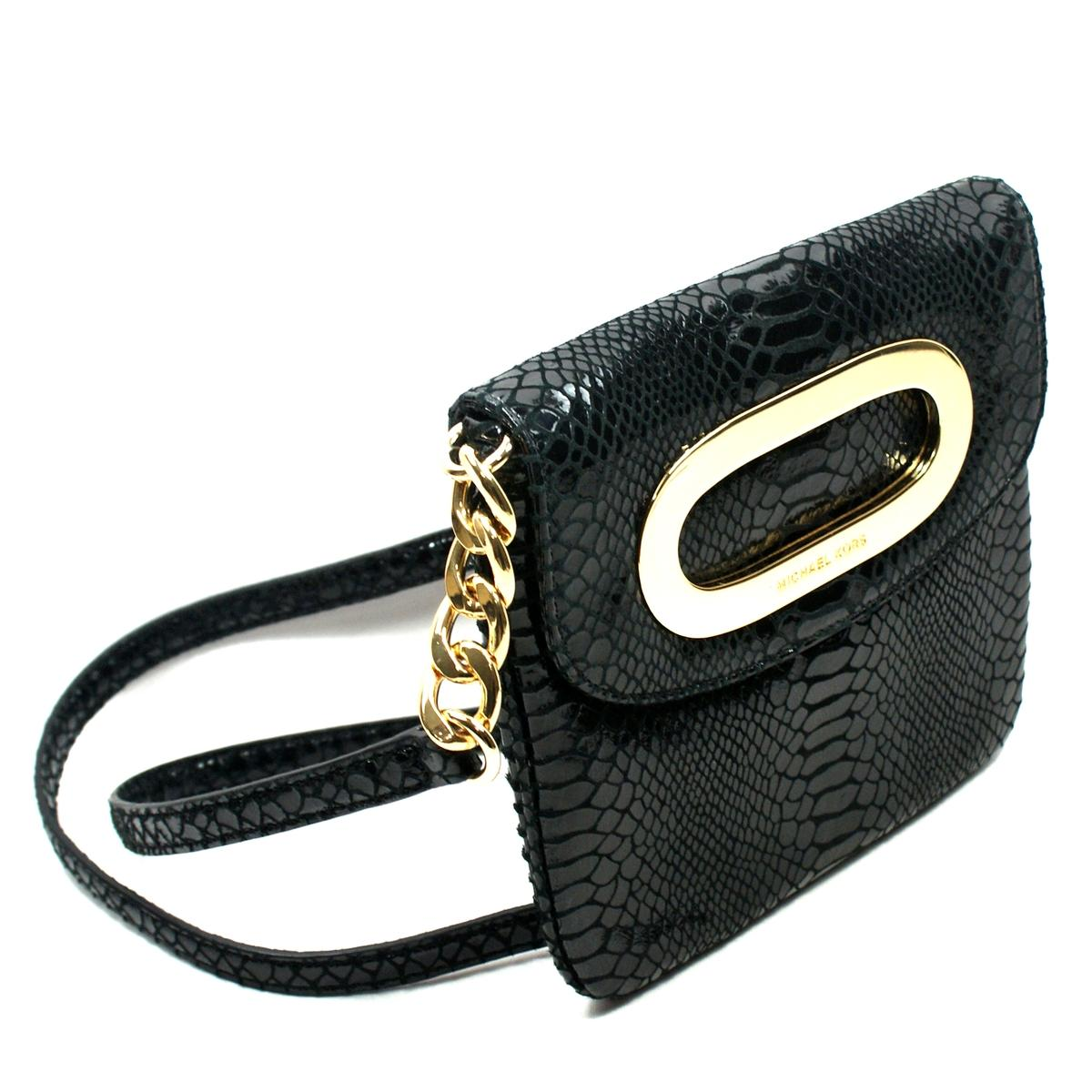 michael kors berkley black genuine leather crossbody bag