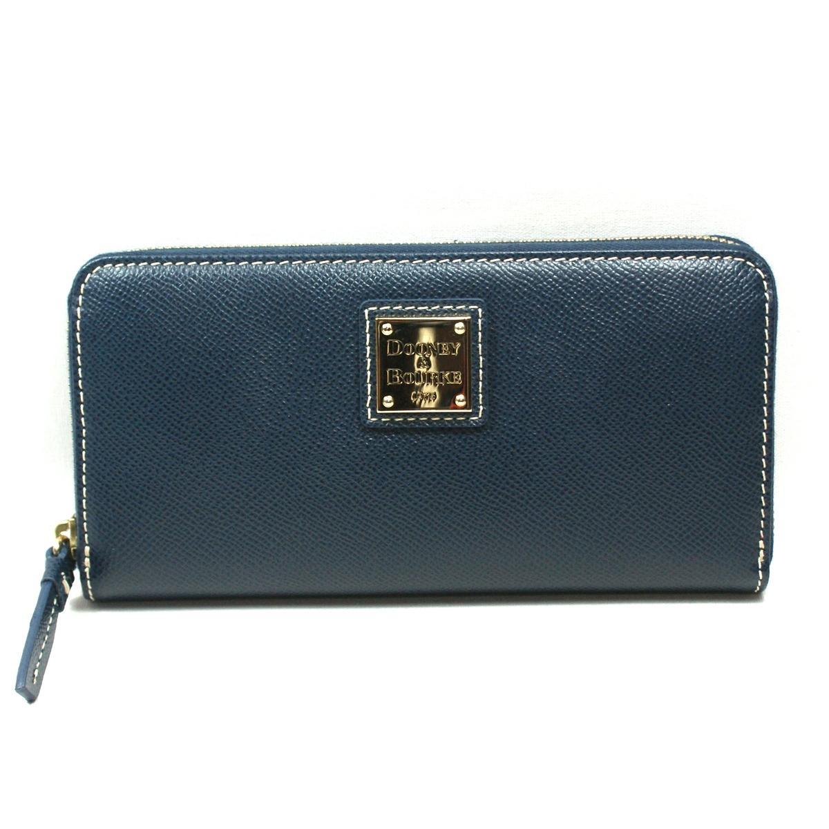Dooney u0026 Bourke Navy Leather Zip Around Wallet #4V32NV : Dooney ...
