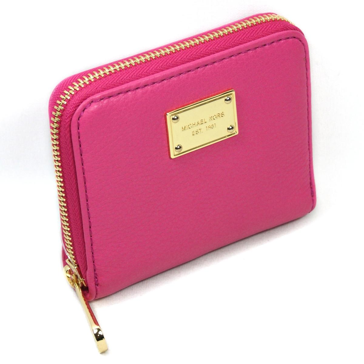 91e989788768bd Home · Michael Kors · Jet Set Genuine Leather Small Zip Around Wallet Zinnia.  CLICK THUMBNAIL TO ZOOM. Found ...