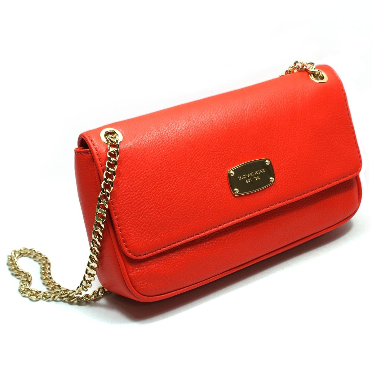 997ed5a1a6f3 ... in Home · Michael Kors · Jet Set Chain Genuine Leather Small Flap Shoulder  Bag Mandarin.