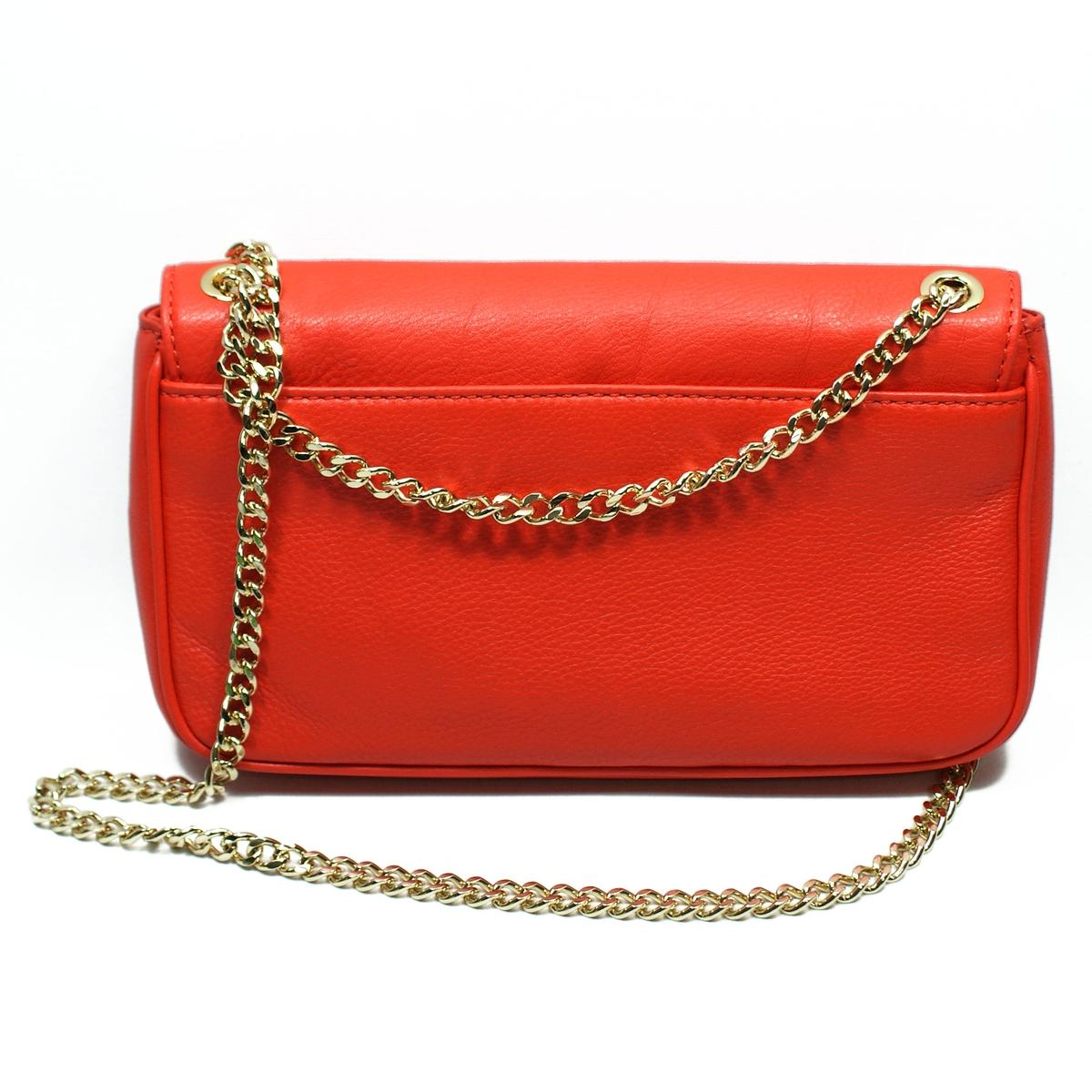 d3eca6f19f218 Home · Michael Kors · Jet Set Chain Genuine Leather Small Flap Shoulder Bag  Mandarin. CLICK THUMBNAIL TO ZOOM. Found ...