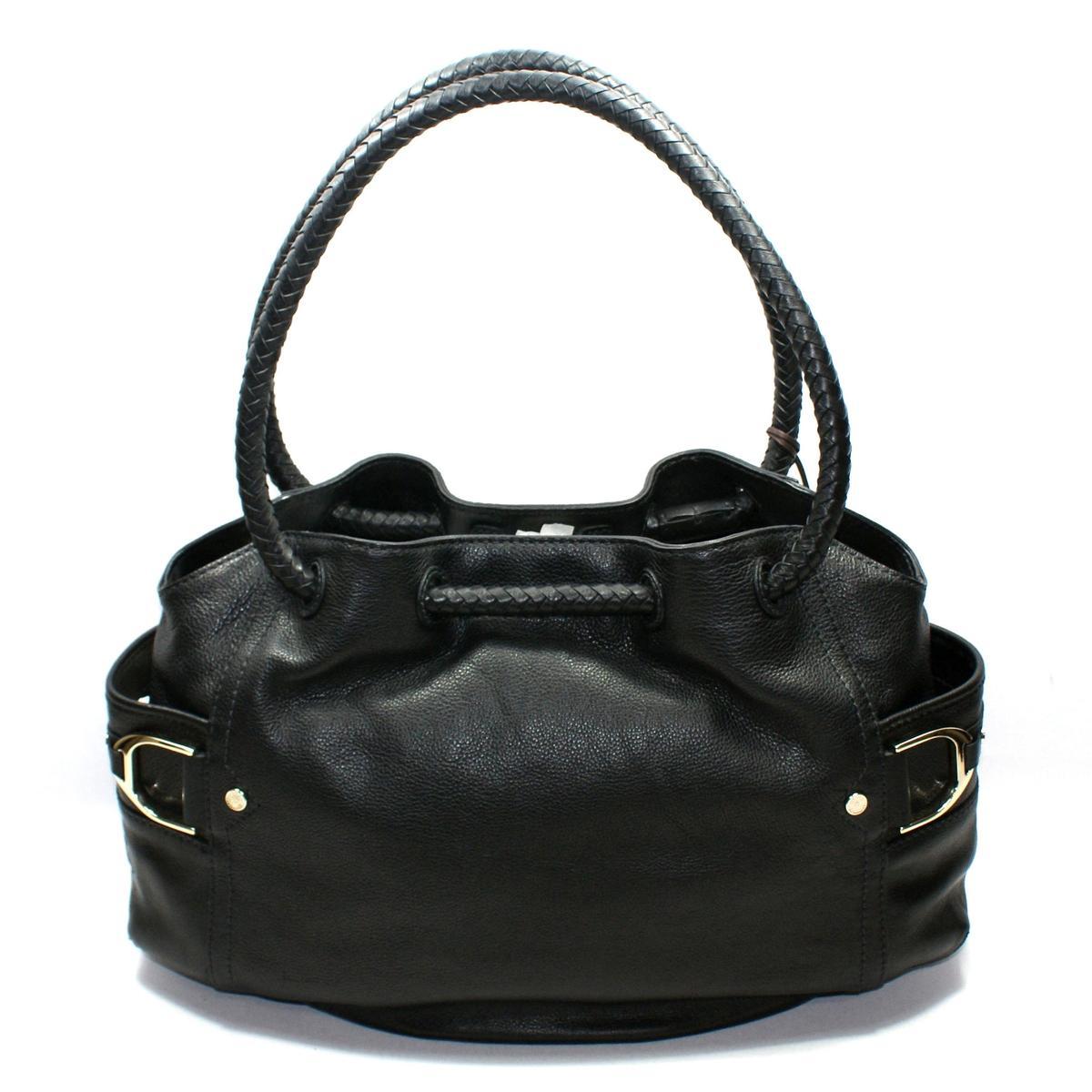 Cole Haan Small Denney Black Saddle Shoulder Bag B35170