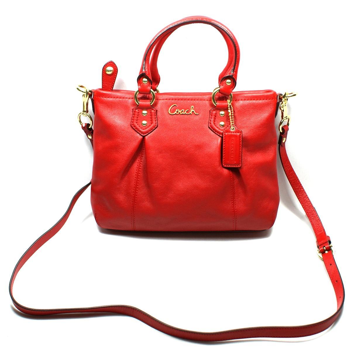 0aa29f6e28182 Coach Ashley Leather Mini Tote/ Cross Body Bag Cherry #20342 | Coach ...