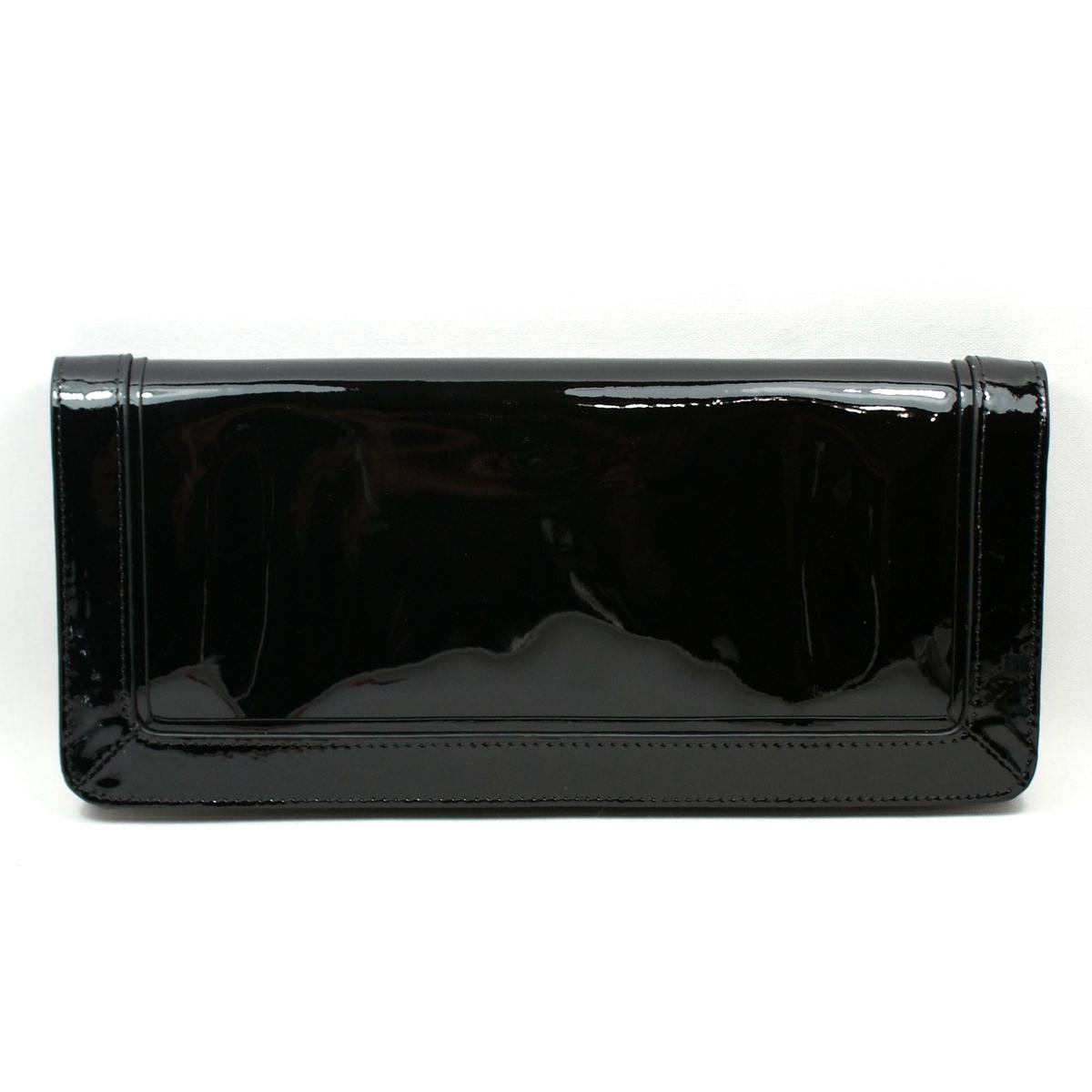 Tory Burch Tory Black Patent Leather Suki Wallet Clutch