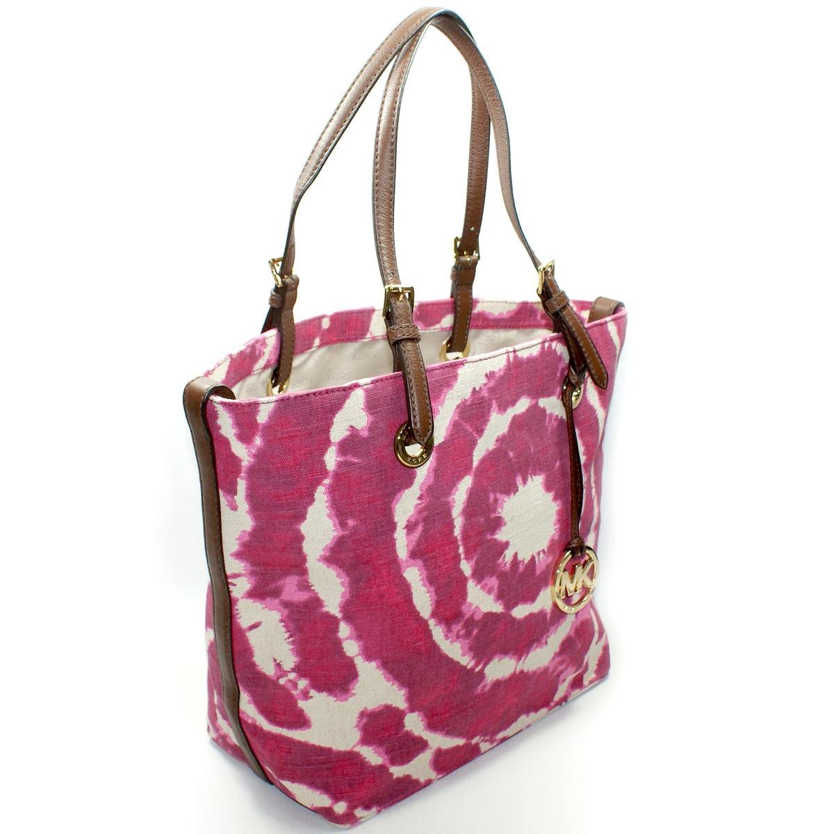 Michael Kors Jet Set Canvas Grap Bag Lacquer Pink