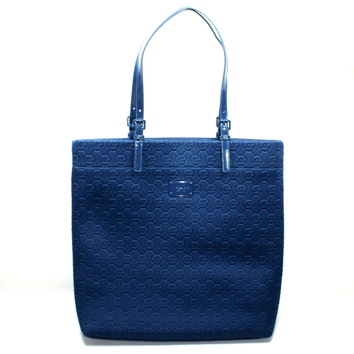 6eaf9fdcc4e6 Home · Michael Kors · Neoprene Navy Blue Jet Set Tote Bag. CLICK THUMBNAIL  TO ZOOM. Found In: Handbags