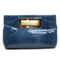 Berkley Genuine Leather Clutch Indigo