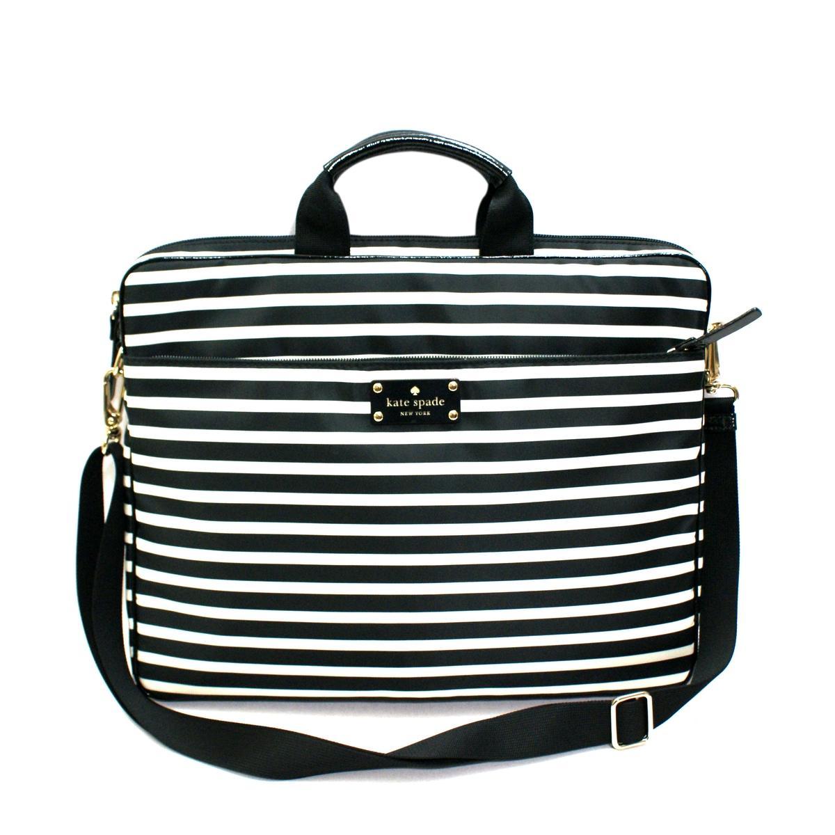 Kate Spade Chad15 Nylon Stripe Laptop Bag/ Messenger Bag # ...