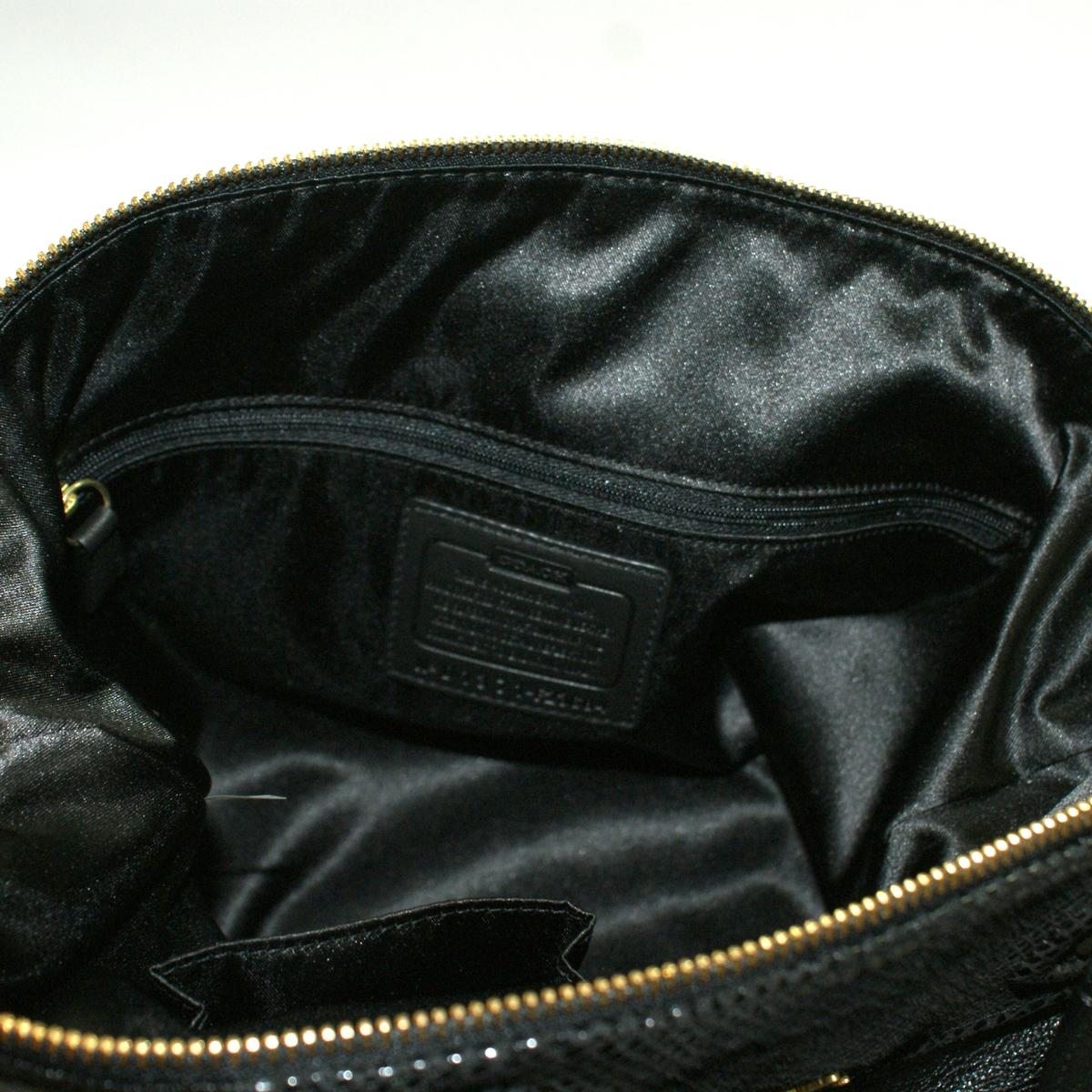 Coach Ashley Leather Satchel\/ Shoulder Bag Black #23684  Coach 23684