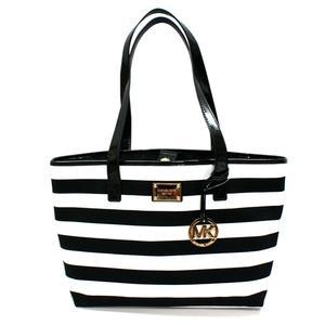 michael kors black and white striped bag. Black Bedroom Furniture Sets. Home Design Ideas