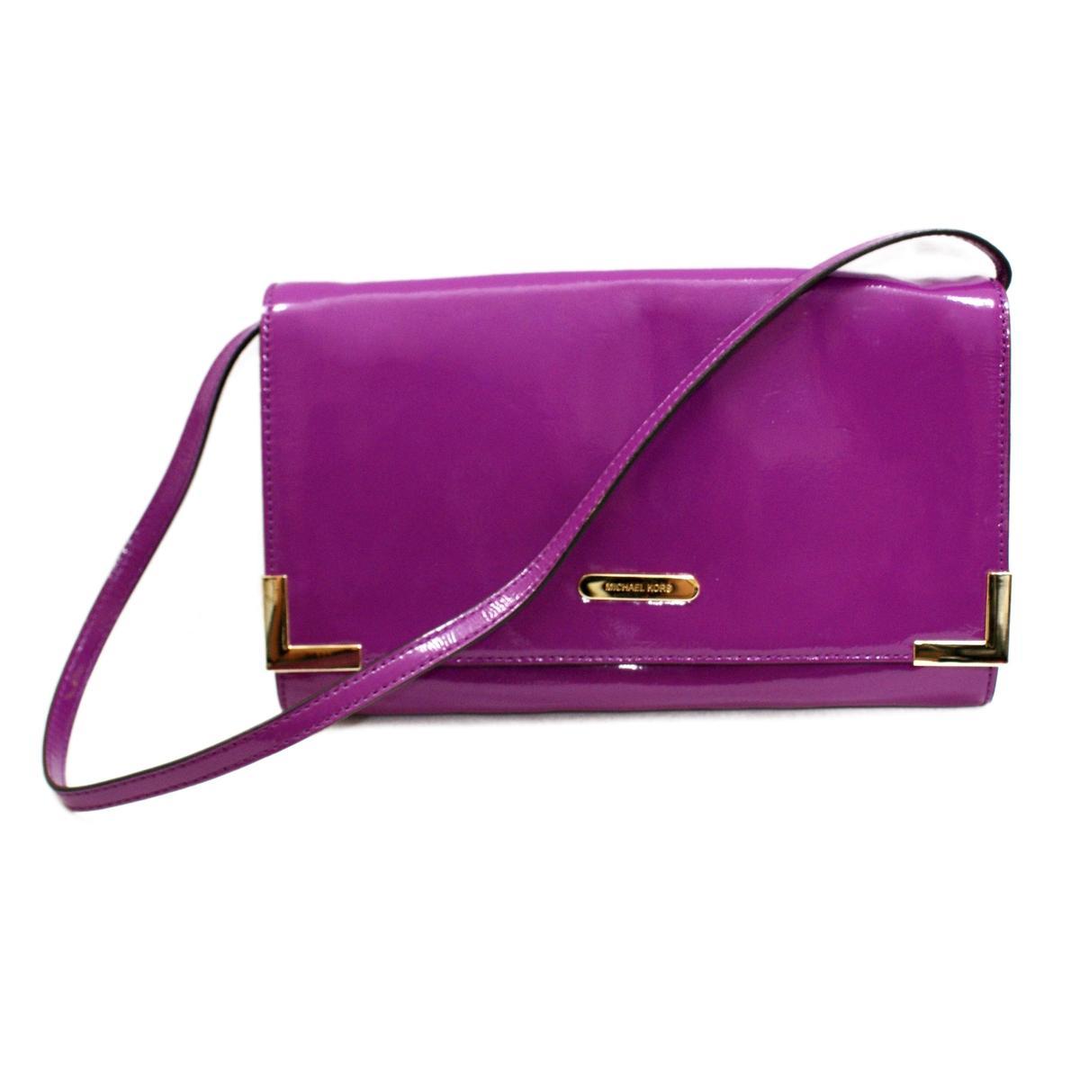 Michael Kors Beverly Genuine Leather Oversized Clutch/ Shoulder Bag ...