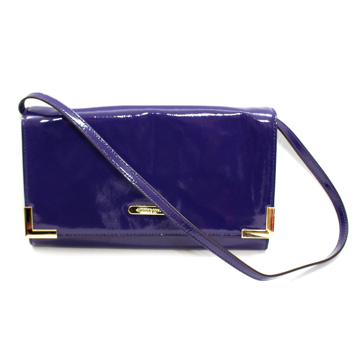 4b8bf237a249 Home · Michael Kors · Beverly Genuine Leather Oversized Clutch/ Shoulder Bag  Iris. CLICK THUMBNAIL TO ZOOM. Found ...