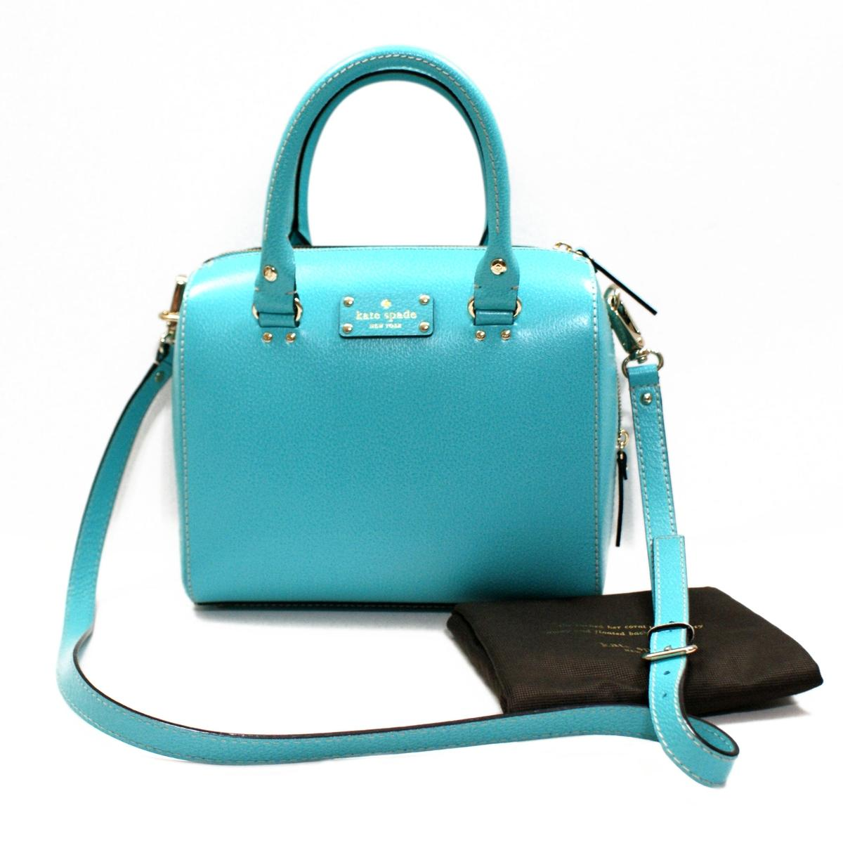 Kate Spade Alessa Wellesley Turquoise Satchel/ Handbag/ Crossbody ...