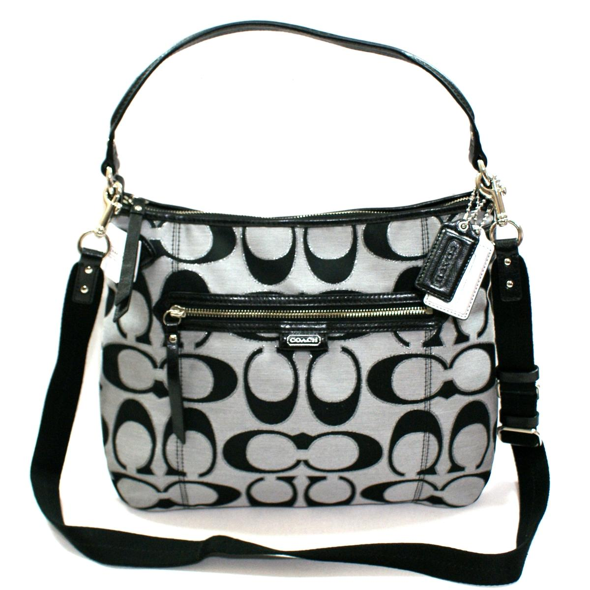 black and gray coach online factory outlet efoz  Coach Crossbody Bag On Sale 113