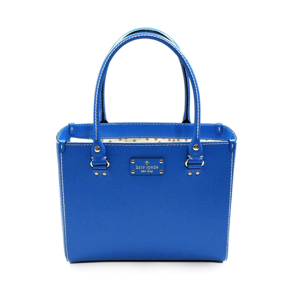Home Kate Spade Quinn Wellesley Leather Satchel Handbag Omega Blue