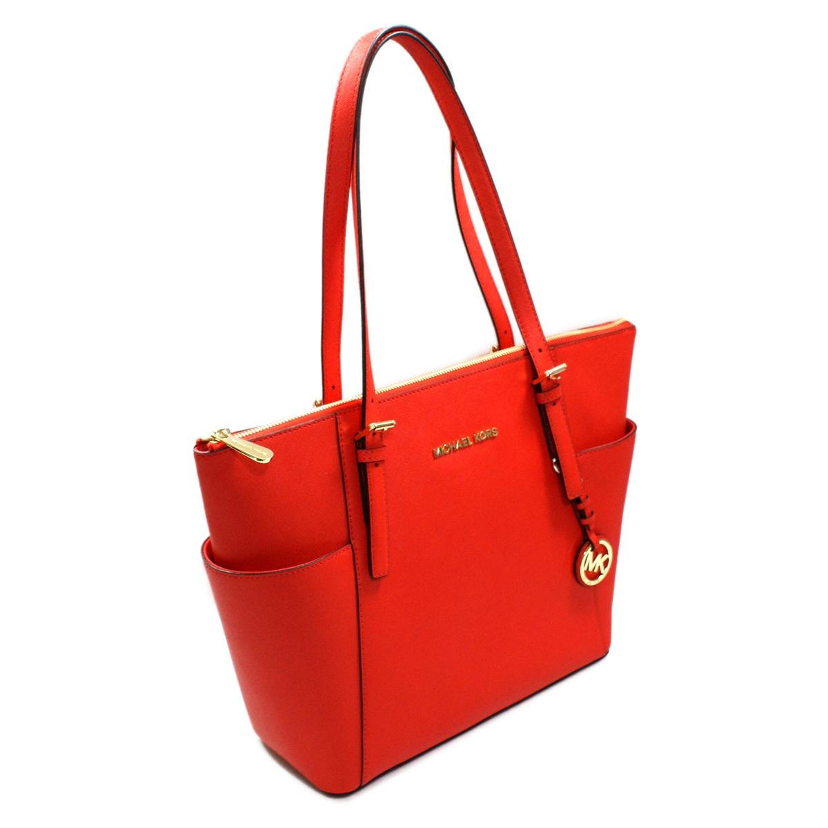 e2f2bba572c1 ... best home michael kors jet set east west genuine leather tote mandarin. click  thumbnail to