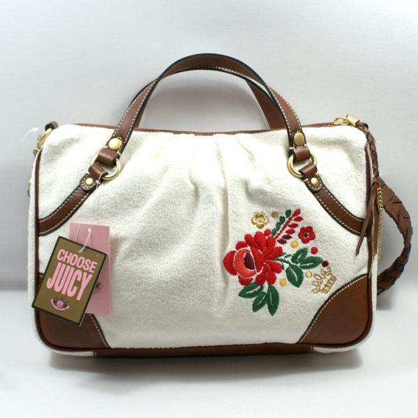 Juicy Couture Angel Flowery White Satchel Shoulder Bag
