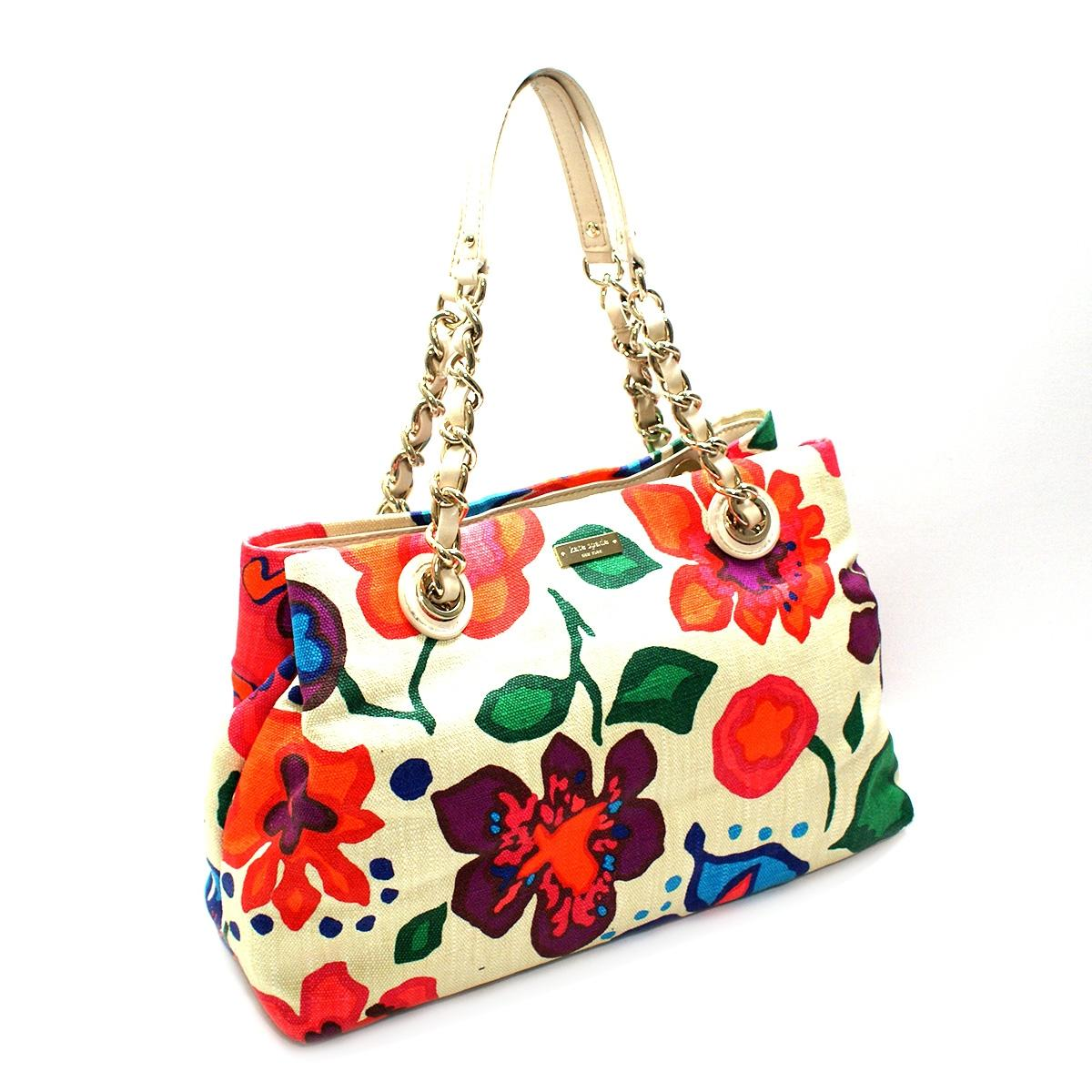 Kate Spade Maryanne Fiesta Floral Print Tote/ Shoulder Bag Clotted Cream #PXRU4244 | Kate Spade ...