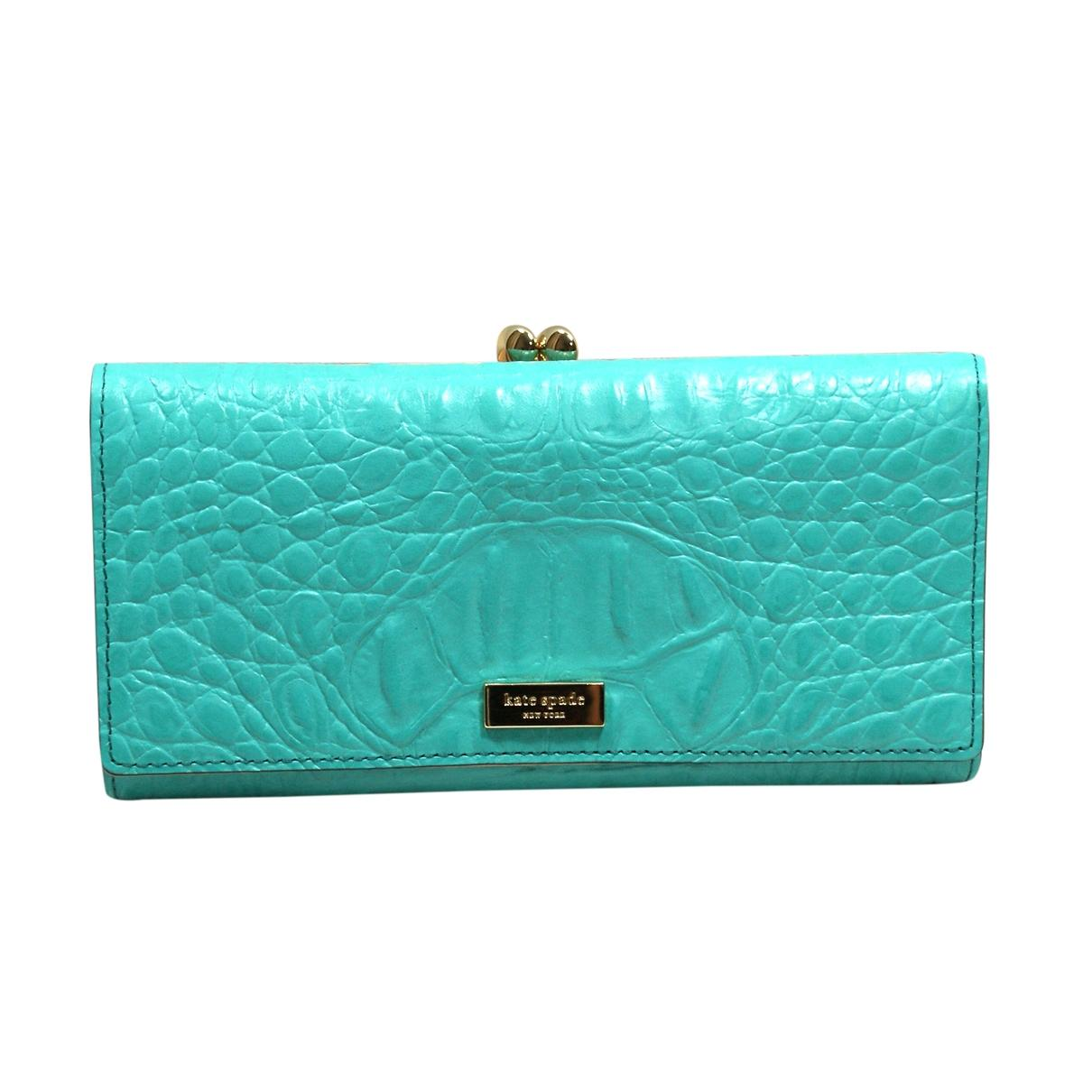 Kate Spade Claudette Orchard Valley Chic Turquoise Croc