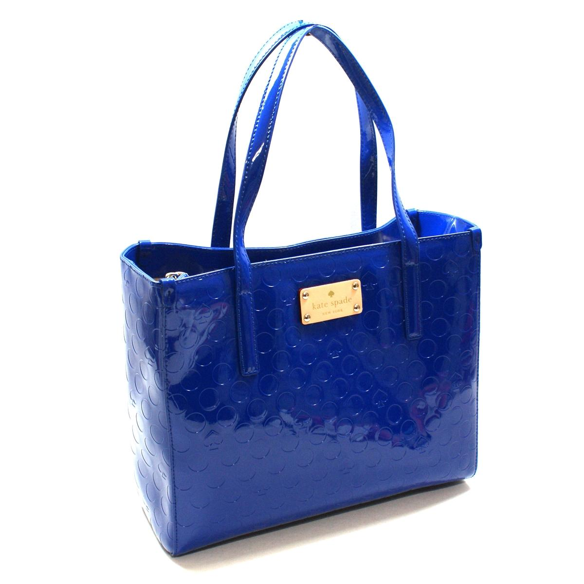 Kate Spade Quinn Yaletown Patent Leather Satchel/ Handbag Royal Cobalt ...