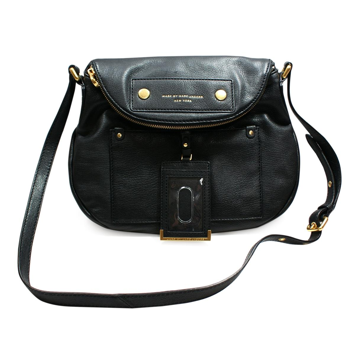 Marc By Marc Jacobs Black Leather Swing/ Cross Body Bag #M3122251 ...