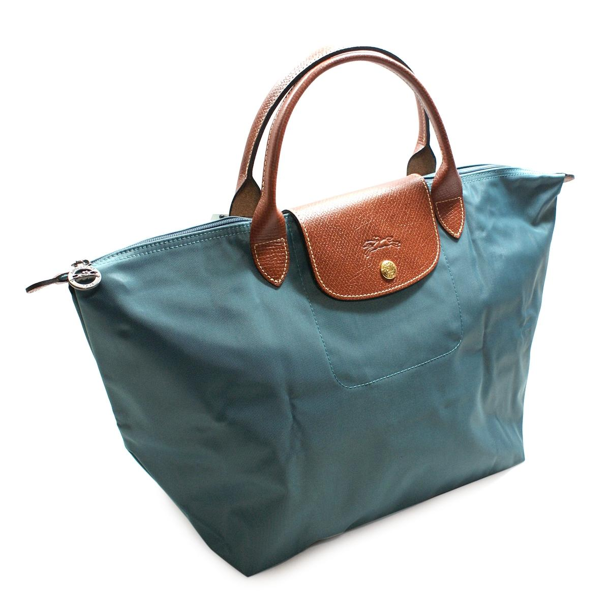 Longchamp Le Place 12 Medium Shoulder Tote Bag Duck Blue #1623089434 ...
