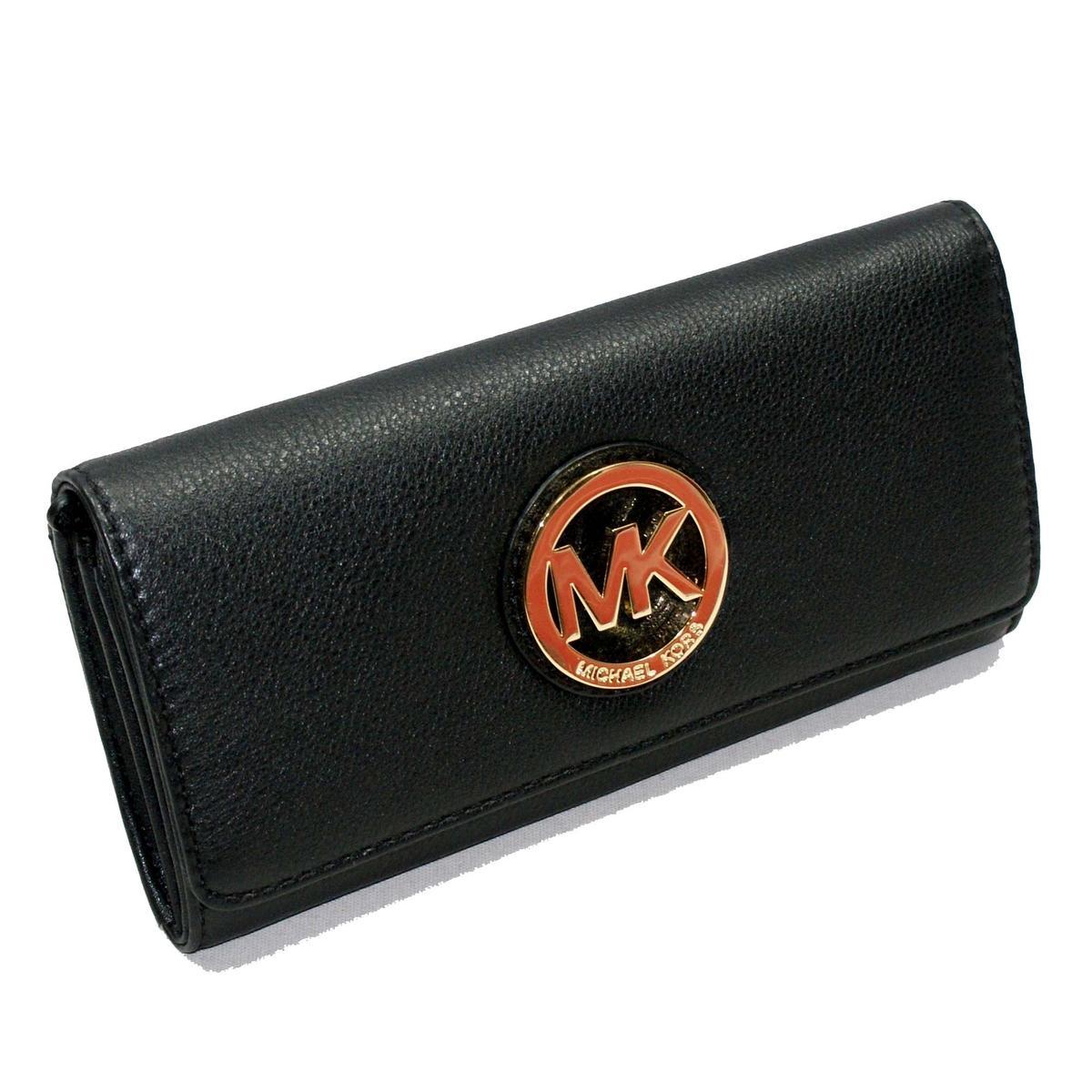 Michael Kors Fulton Flap Contiental Genuine Leather Black