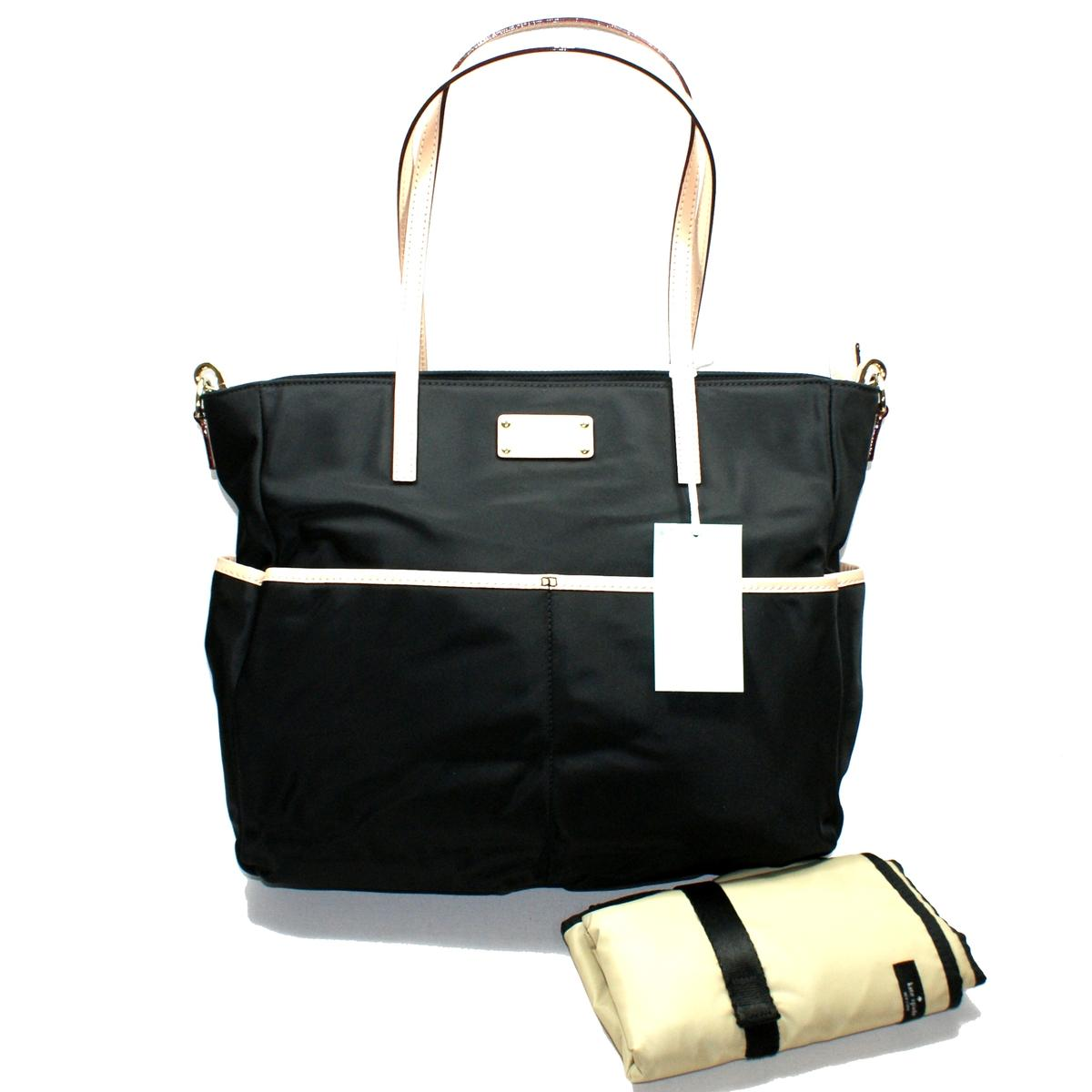 kate spade honey baby bag kennedy park black nylon diaper bag tote wkru2284 kate spade wkru2284. Black Bedroom Furniture Sets. Home Design Ideas