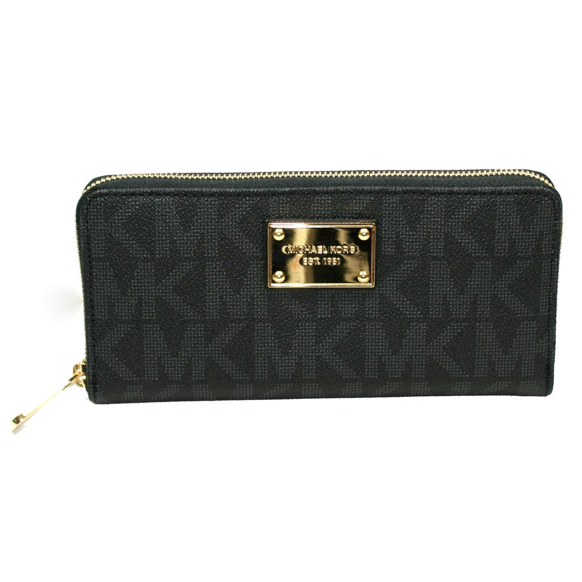 Michael Kors Jet Set Mk Signature Pvc Continental Wallet