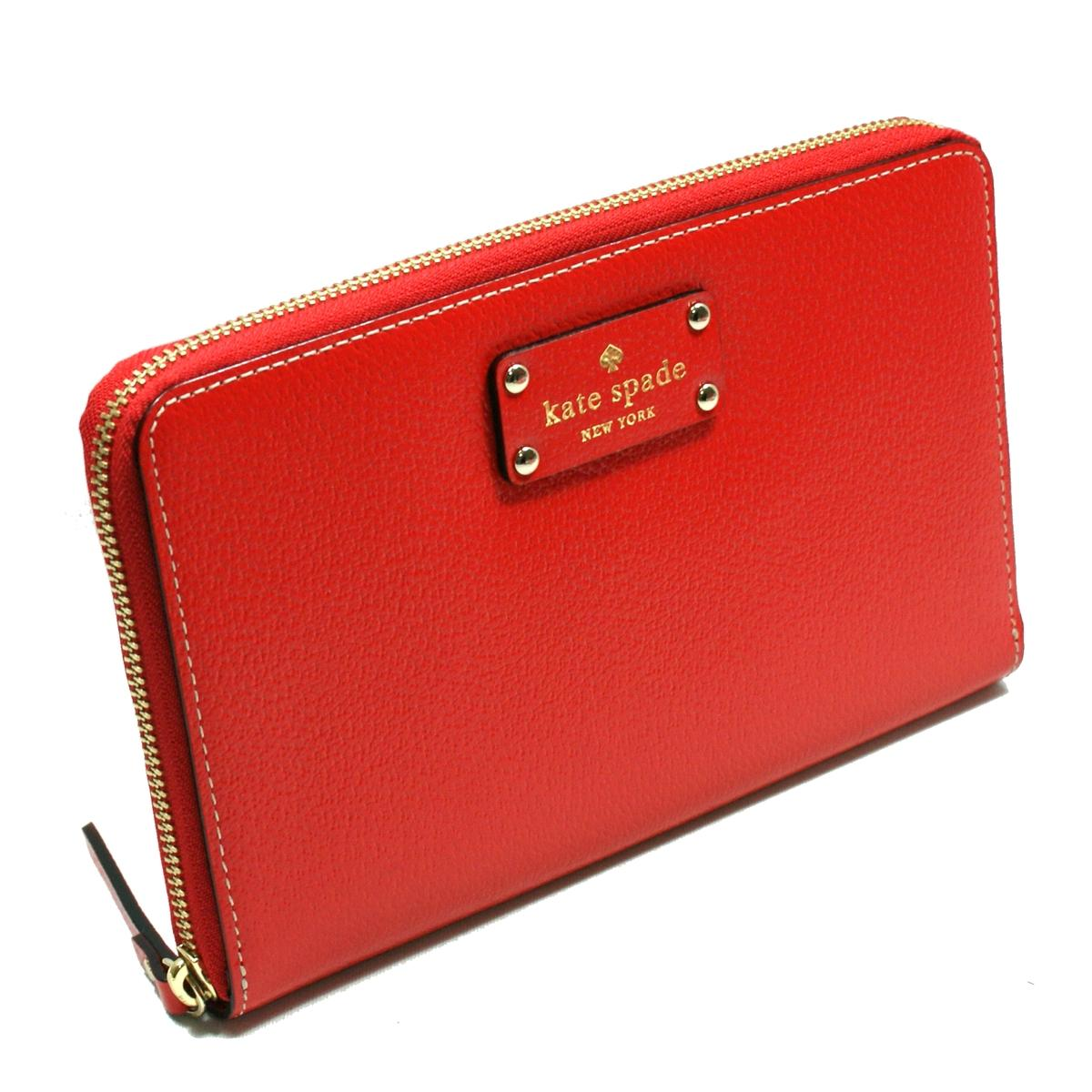 Kate Spade Wellesley Red Garnet Zip Travel Wallet Clutch