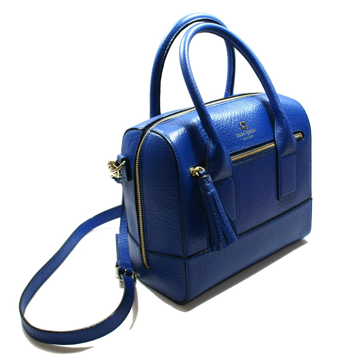 Kate Spade Alessa Southport Avenue Blue Satchel\/ Handbag\/ Crossbody Bag #WKRU1801  Kate Spade