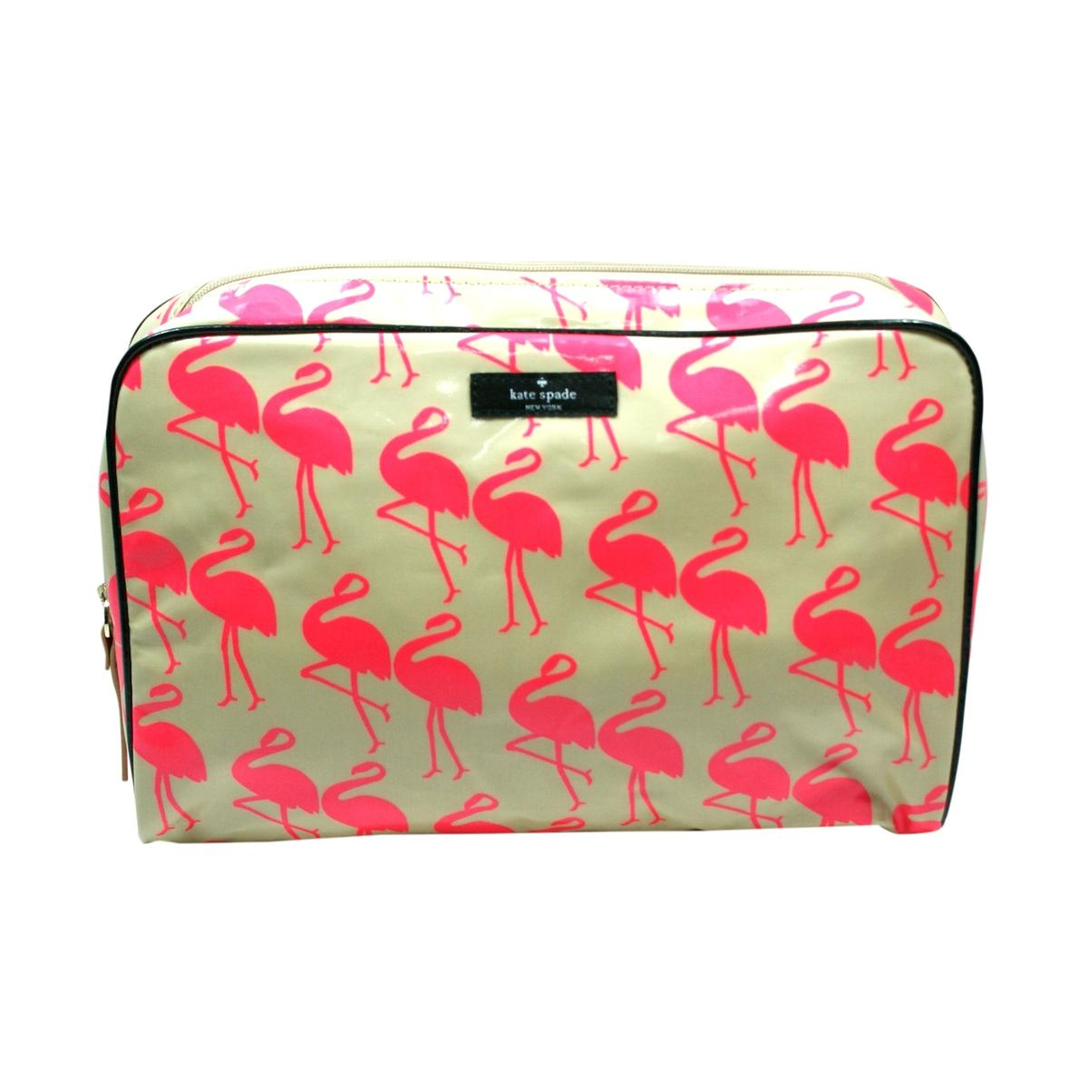 Kate Spade Large Henrietta Daycation Flamingo Cosmetic Bag