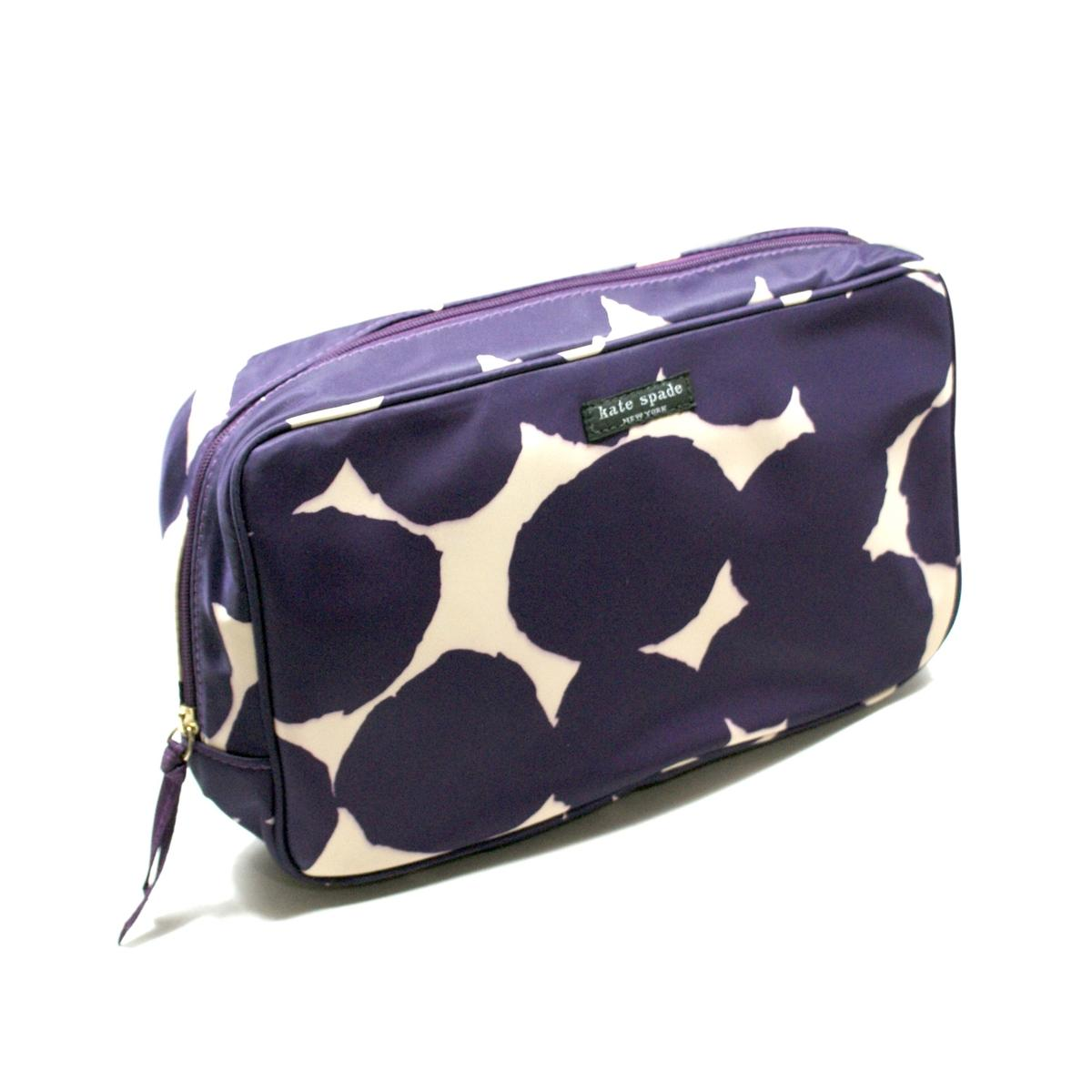Kate Spade Splodge Dot Large Manuela Pouch Cosmetic Bag