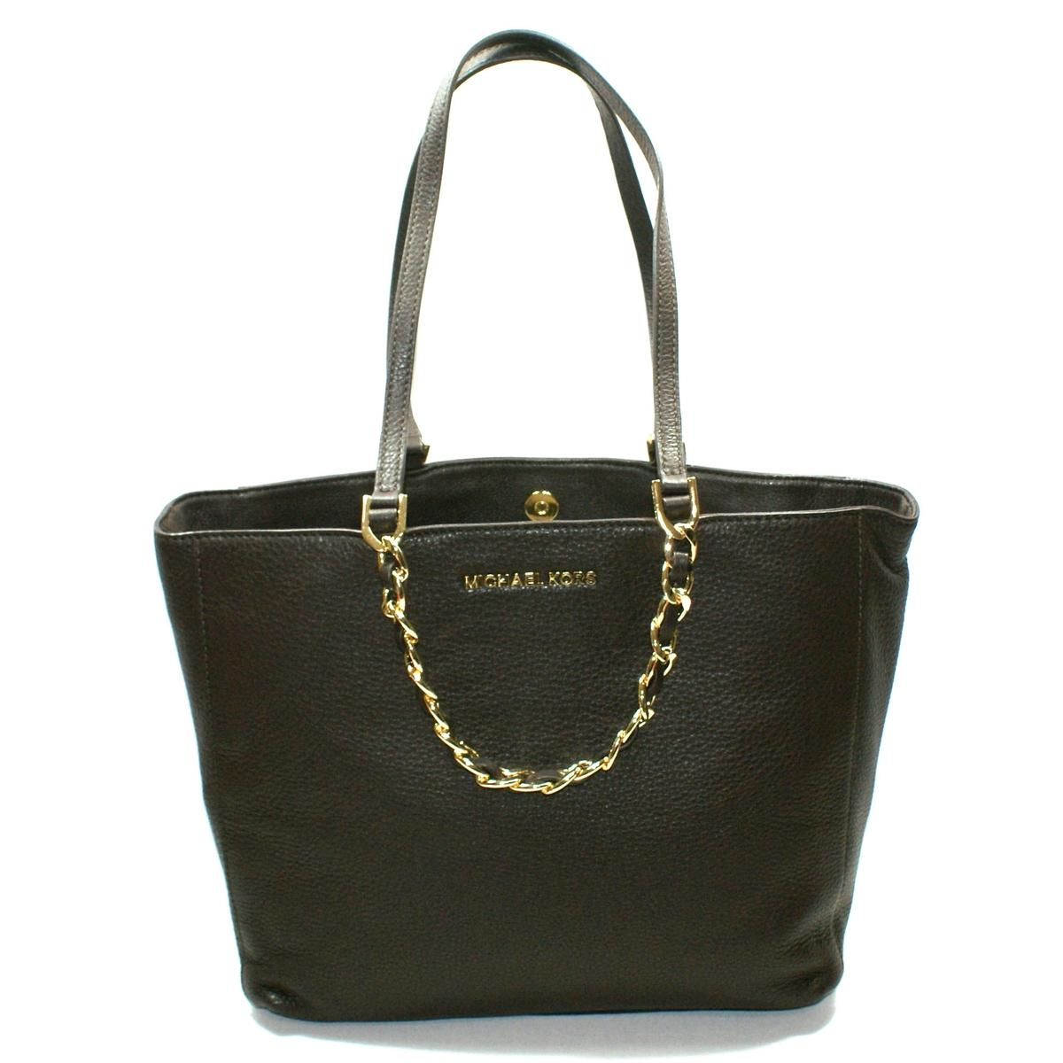 62c6589cdb2b68 Home · Michael Kors · Harper Large East/ West Genuine Leather Tote Dark  Chocolate. CLICK THUMBNAIL TO ZOOM. Found In: Handbags
