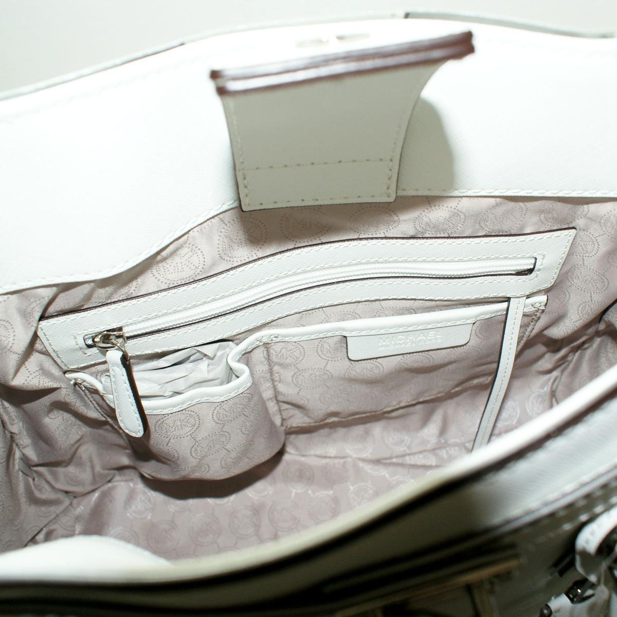 Michael kors hamilton specchio large genuine leather tote for Lots specchio