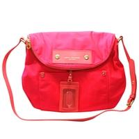 Marc By Marc JacobsDiva Pink Nylon Large Swing/ Cross Body Bag