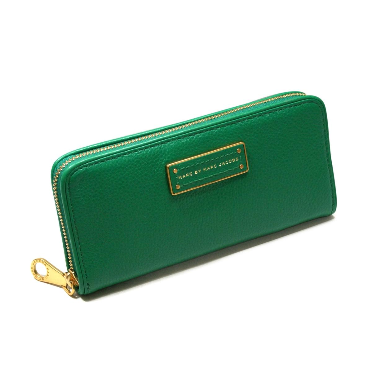 Marc By Marc Jacobs Soccer Pitch Green Genuine Leather Zip