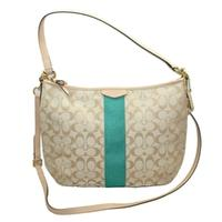 CoachSignature 12 CM Convertible Hobo Bag Emerald