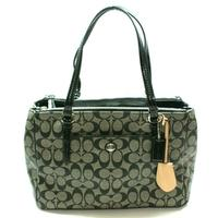 CoachPeyton Signature Jordan Double Carryall/ Shoulder Bag Black