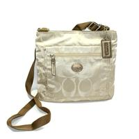 CoachGateway Signature Nylon File Bag/ Crossbody Bag Light Khaki