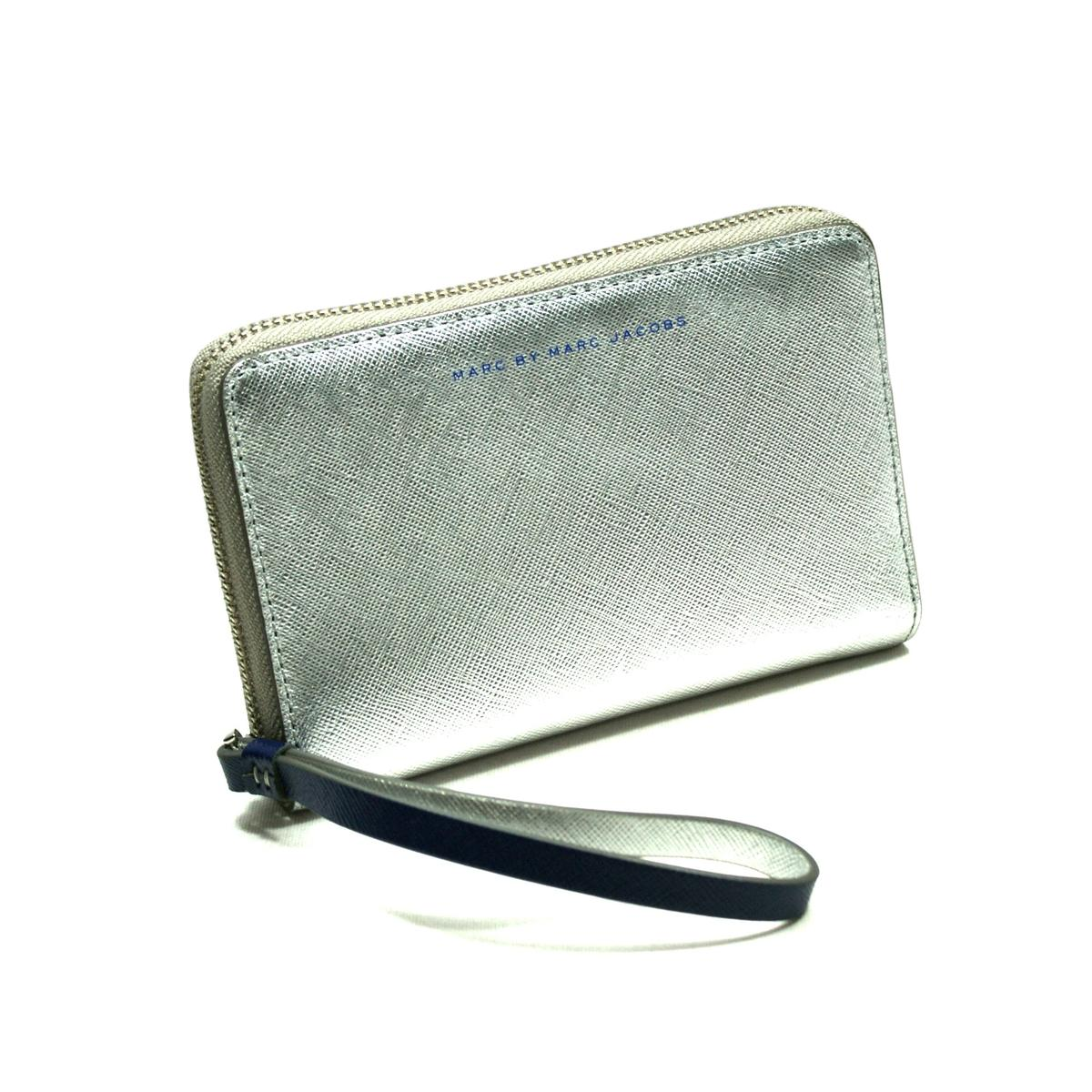 Marc By Marc Jacobs Deep Ultra Violet Leather Wristlet/ Wallet ...