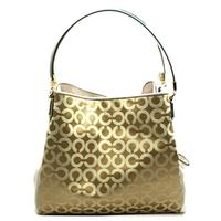 CoachMadison Opt Art Small Phoebe Hobo Bag Light Khaki