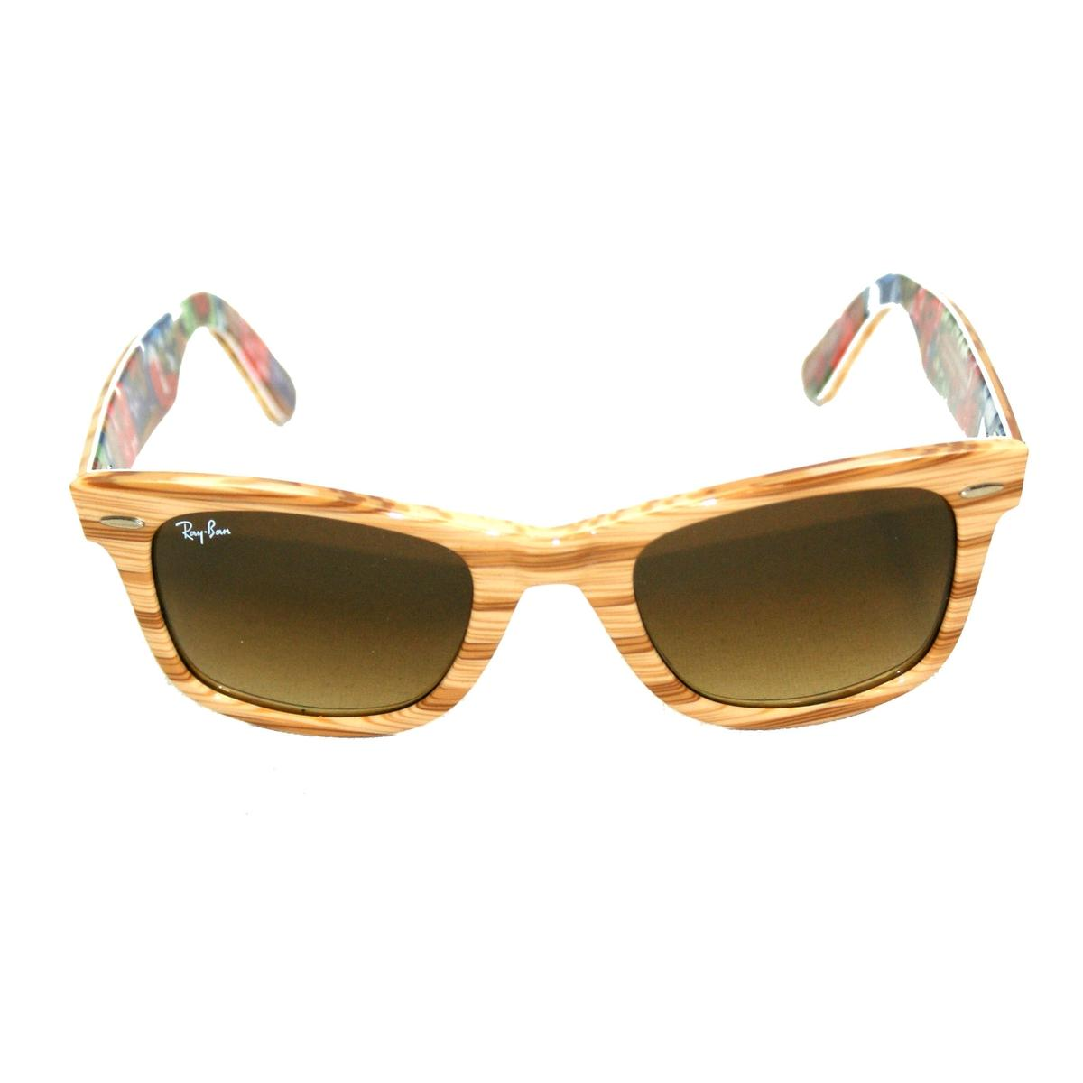 ray ban original wayfarer wood effect sunglasses