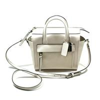 CoachBleeker Leather Mini Riley Handbag/ Crossbody Bag Parchment