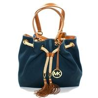 Michael KorsMarina Canvas Gathered Tote Navy