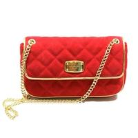 Michael KorsJet Set Chain Small Quilted Flap Shoulder Bag Red