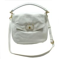 Marc By Marc JacobsStar White Leather Hobo/ Crossbody Bag