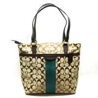 CoachSignature 12 CM Tote Khaki/ Green